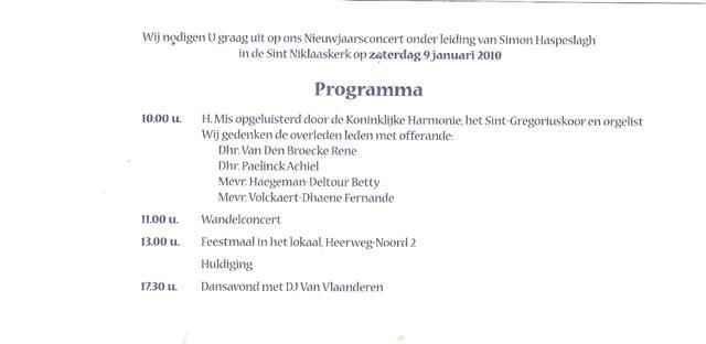 Sint-Ceciliafeest 22 november 2009